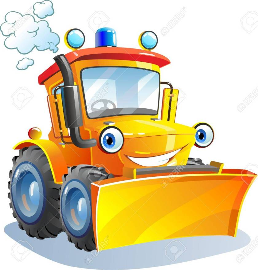 76081614-cartoon-funny-tractor-bulldozer-